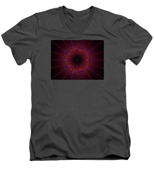 The Violet Blessings Of The Crown Chakra Men's V-Neck T-Shirt by Ernst Dittmar
