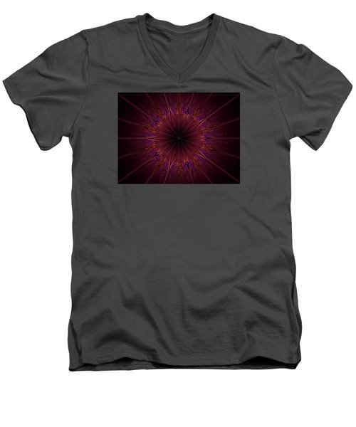 The Violet Blessings Of The Crown Chakra Men's V-Neck T-Shirt