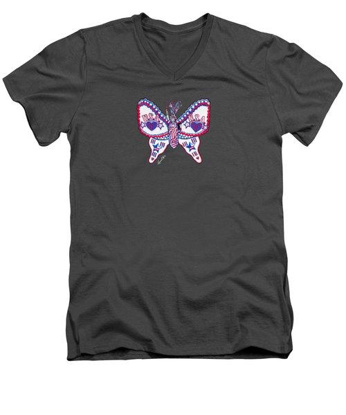 July Butterfly Men's V-Neck T-Shirt