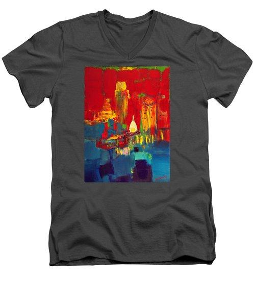 July Men's V-Neck T-Shirt