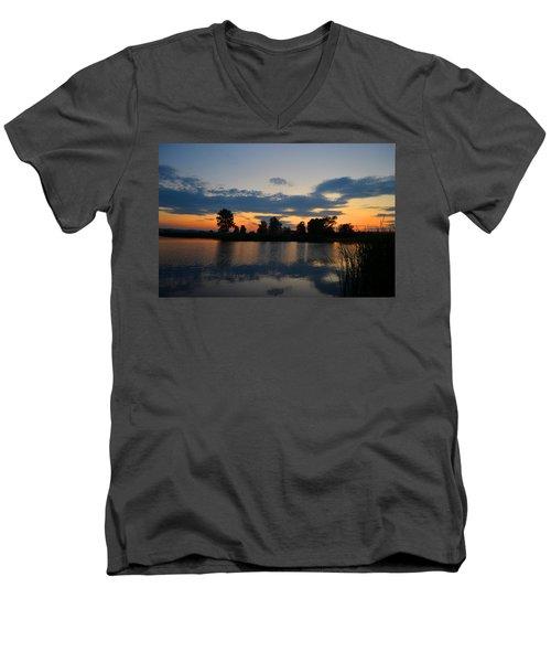 July Sunset Men's V-Neck T-Shirt
