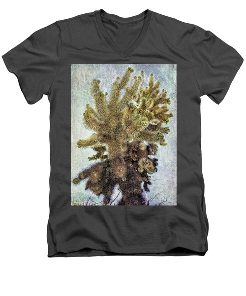 Jumping Cholla Men's V-Neck T-Shirt