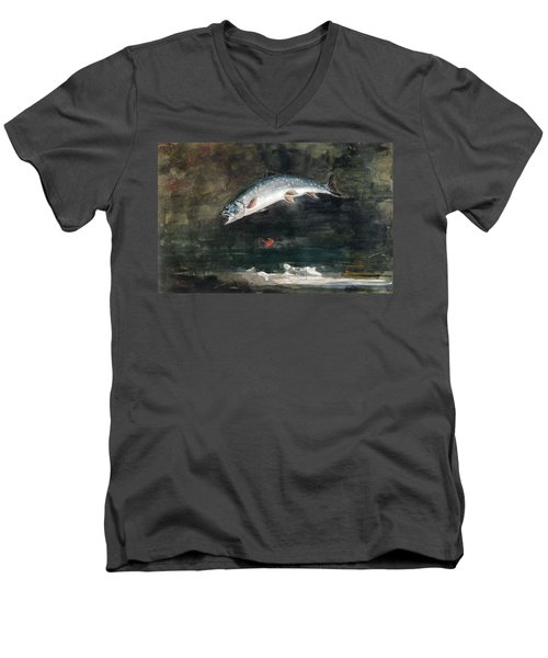 Jumping Trout Men's V-Neck T-Shirt