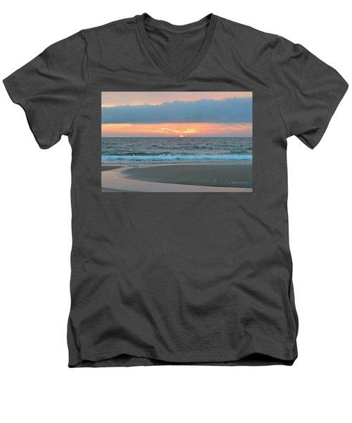 June 20 Nags Head Sunrise Men's V-Neck T-Shirt