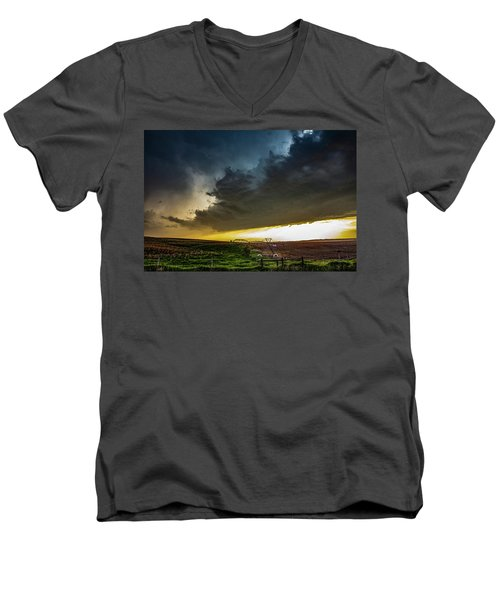 June Comes In With A Boom 005 Men's V-Neck T-Shirt
