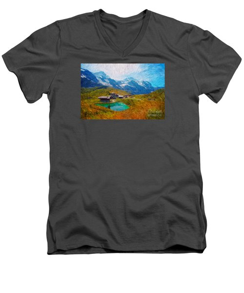 Jungfrau And Pond Men's V-Neck T-Shirt