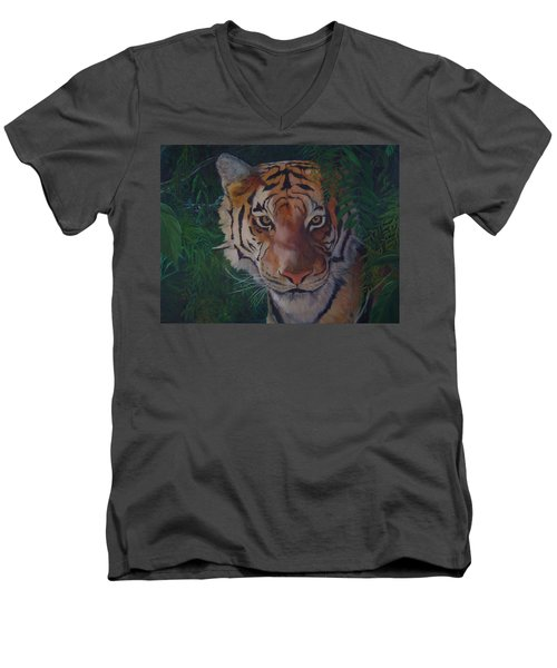 Jungle Eyes Men's V-Neck T-Shirt