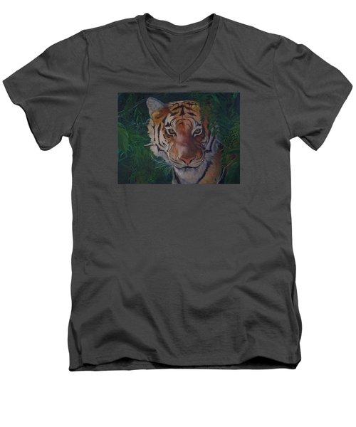Jungle Eyes Men's V-Neck T-Shirt