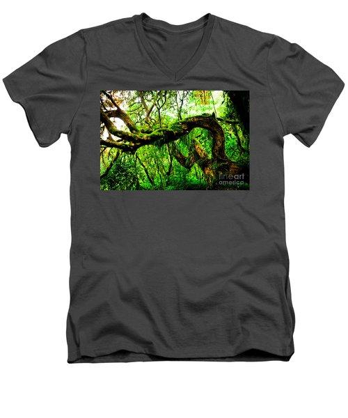 Jungle Forest Himalayas Mountain Nepal Men's V-Neck T-Shirt