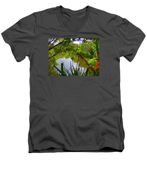 Jungle Garden View Men's V-Neck T-Shirt