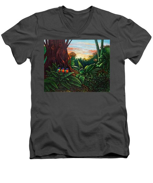Jungle Harmony 3 Men's V-Neck T-Shirt