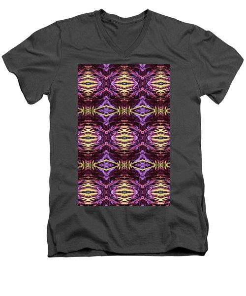 Jungle Night Men's V-Neck T-Shirt by Bob Wall