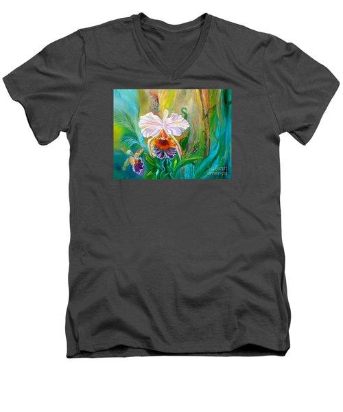 Jungle Orchid Men's V-Neck T-Shirt