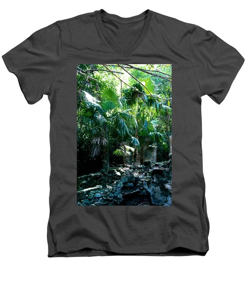 Jungle Sun  Men's V-Neck T-Shirt