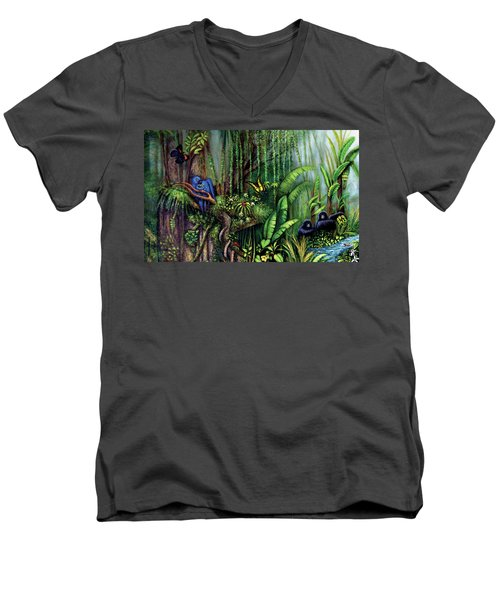Jungle Talk Men's V-Neck T-Shirt