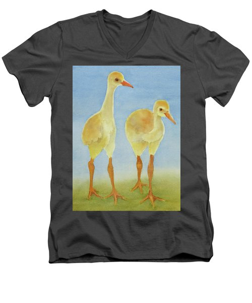 Junior Birdmen Men's V-Neck T-Shirt by Judy Mercer