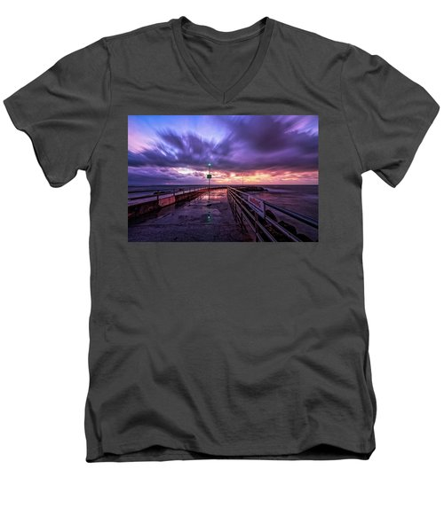 Jupiter Inlet Jetty Men's V-Neck T-Shirt