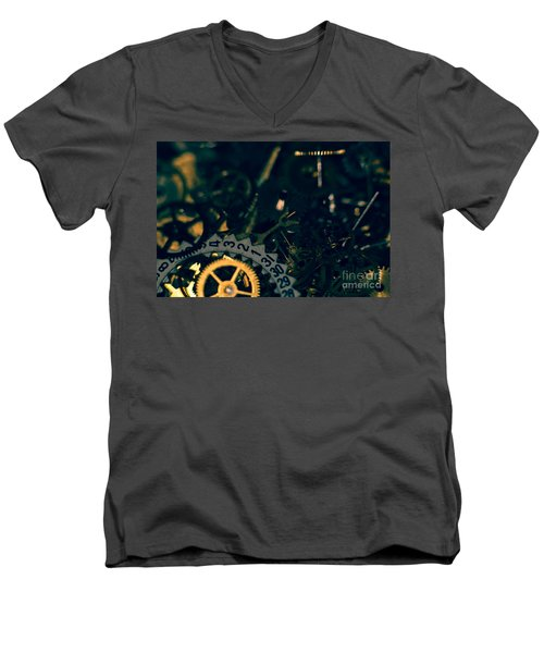 Just A Cog In The Machine 1 Men's V-Neck T-Shirt