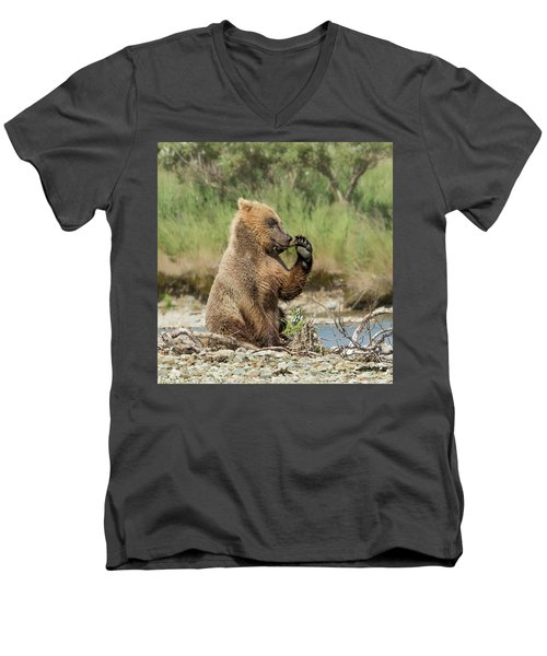 Just A Little Fiber Men's V-Neck T-Shirt