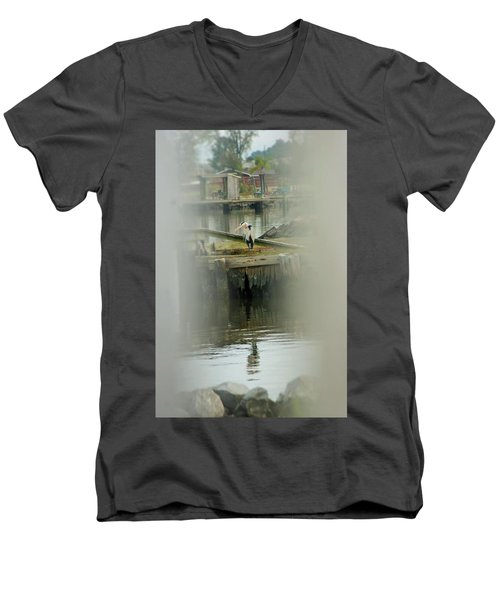 Men's V-Neck T-Shirt featuring the photograph Just A Little Older With A Little More Grey... by John Glass