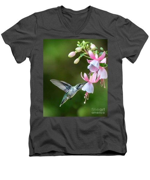 Just A Sip Men's V-Neck T-Shirt by Amy Porter