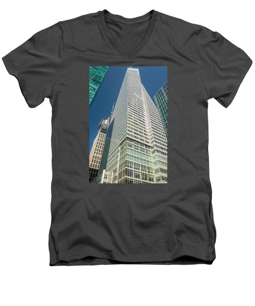 Just Another Skyscraper Men's V-Neck T-Shirt by Sabine Edrissi