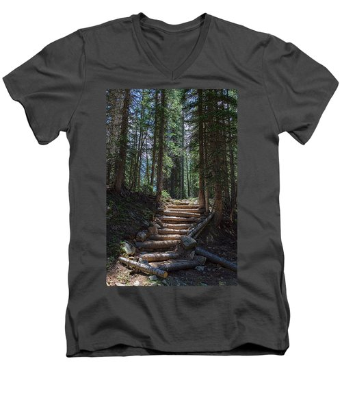 Men's V-Neck T-Shirt featuring the photograph Just Another Stairway To Heaven by James BO Insogna