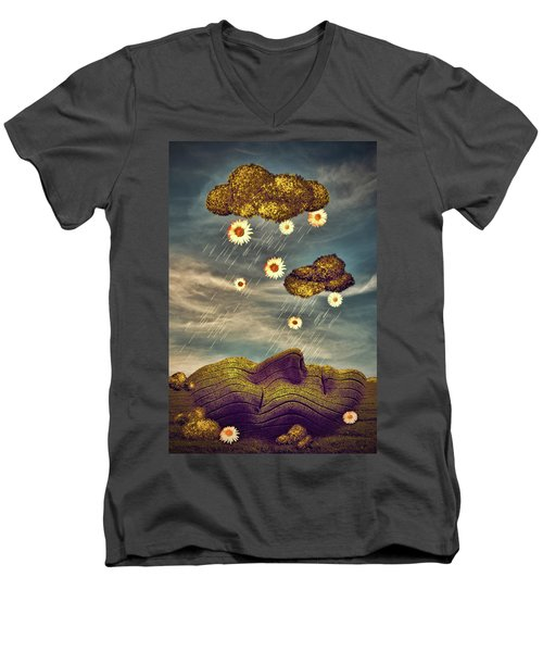 Just Another Summer Rainy Day Men's V-Neck T-Shirt