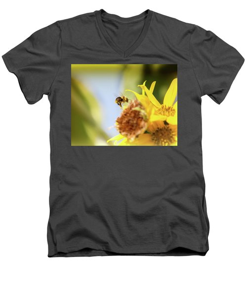 Men's V-Neck T-Shirt featuring the photograph Just Beeing Me by Annette Hugen