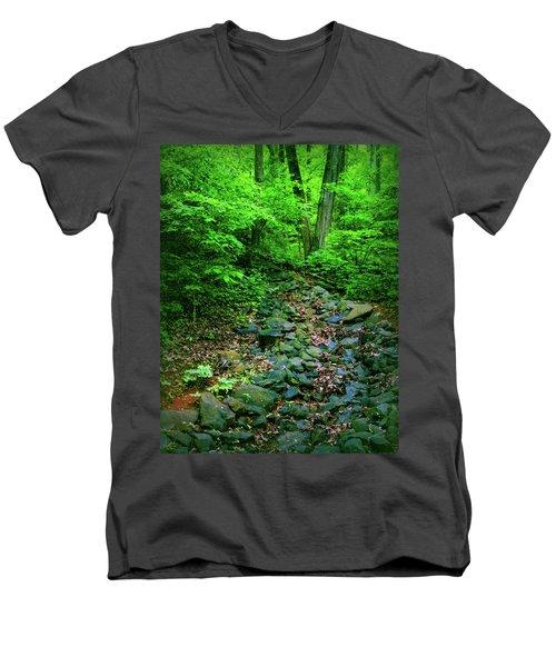Just Breath Men's V-Neck T-Shirt