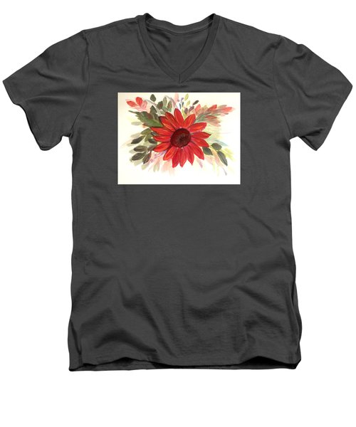 Men's V-Neck T-Shirt featuring the painting Just For You by Dorothy Maier