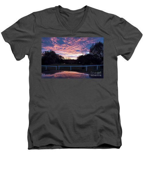 Just Had To Stop Men's V-Neck T-Shirt by David  Hollingworth