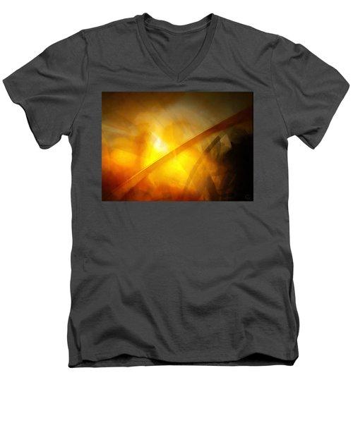 Just Light Men's V-Neck T-Shirt by Gun Legler