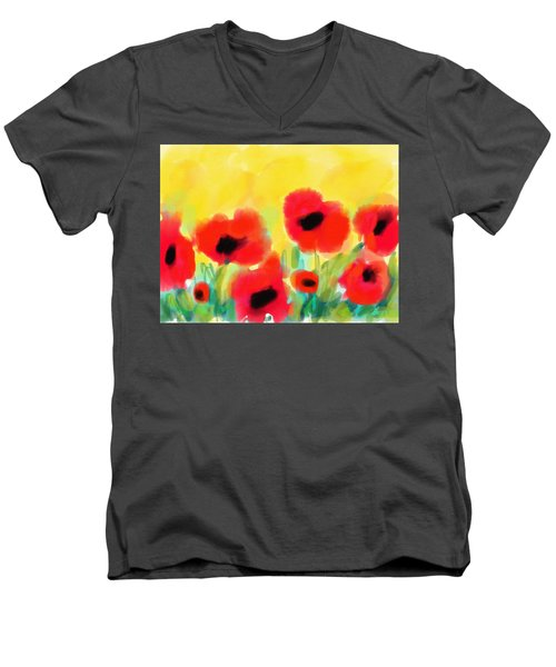 Just Poppies Men's V-Neck T-Shirt