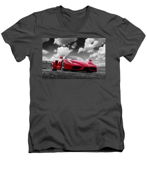 Just Red 1 2002 Enzo Ferrari Men's V-Neck T-Shirt