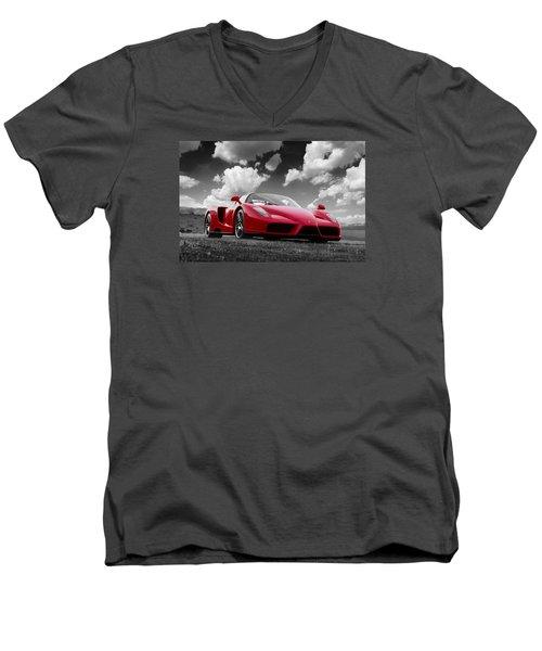 Just Red 1 2002 Enzo Ferrari Men's V-Neck T-Shirt