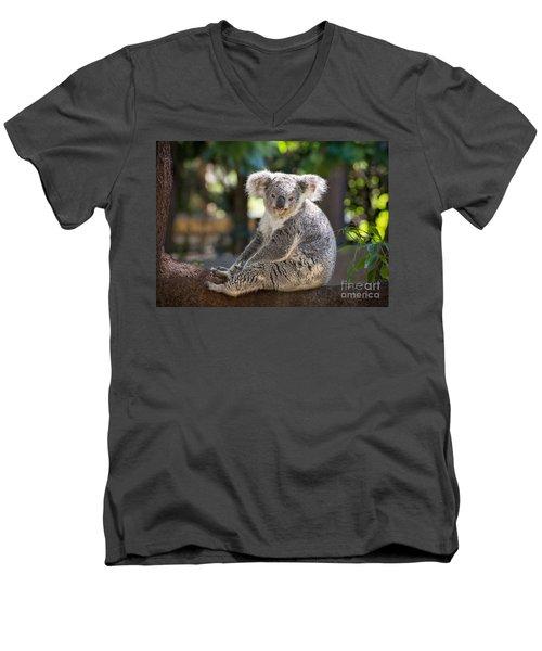 Just Relax Men's V-Neck T-Shirt by Jamie Pham