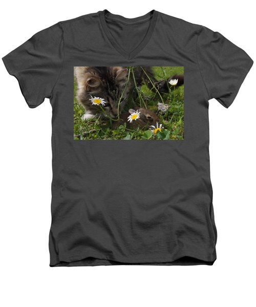 Just Say No Men's V-Neck T-Shirt by Bill Stephens