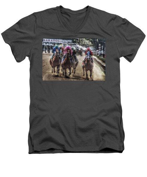 Just Starting Men's V-Neck T-Shirt