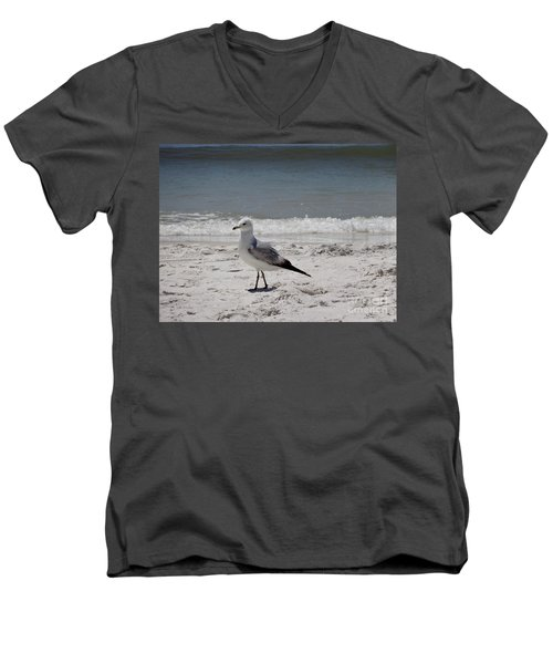 Just Strolling Along Men's V-Neck T-Shirt by Megan Cohen