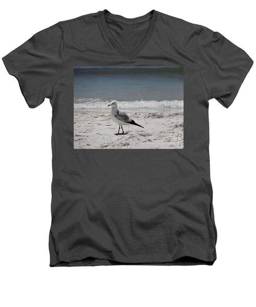 Just Strolling Along Men's V-Neck T-Shirt