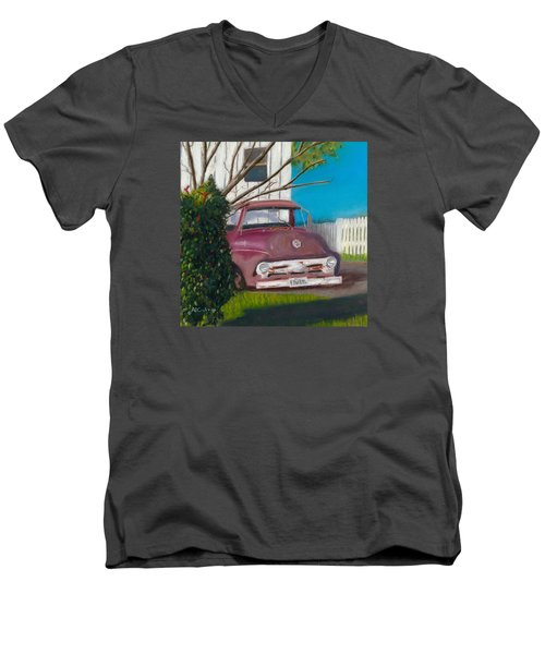 Just Up The Road Men's V-Neck T-Shirt by Arlene Crafton