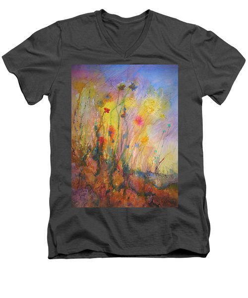 Just Weeds Men's V-Neck T-Shirt by Mary Schiros