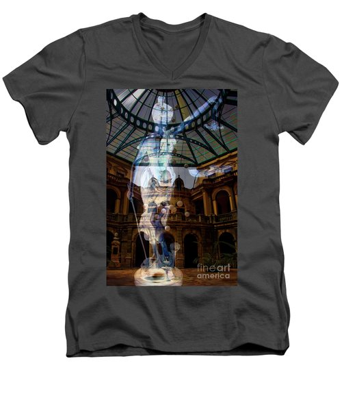 Men's V-Neck T-Shirt featuring the photograph Justice Is Blind by Al Bourassa