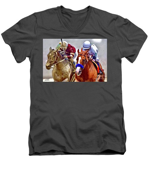 Justify In The Lead Men's V-Neck T-Shirt