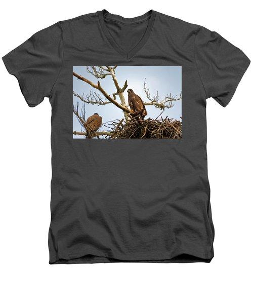 Juvenile Eagles Men's V-Neck T-Shirt