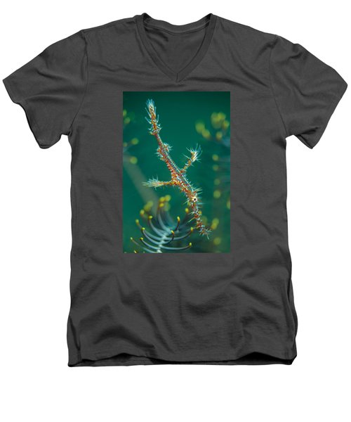 Juvenile Ornate Ghost Pipefish Men's V-Neck T-Shirt