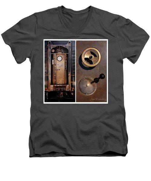 Juxtae #24 Men's V-Neck T-Shirt by Joan Ladendorf