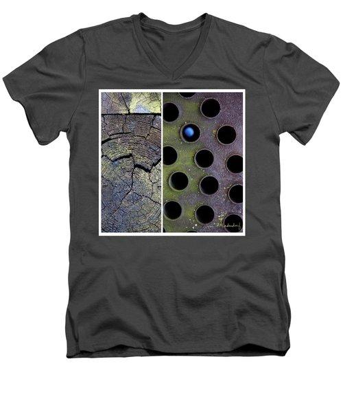Juxtae #58 Men's V-Neck T-Shirt by Joan Ladendorf