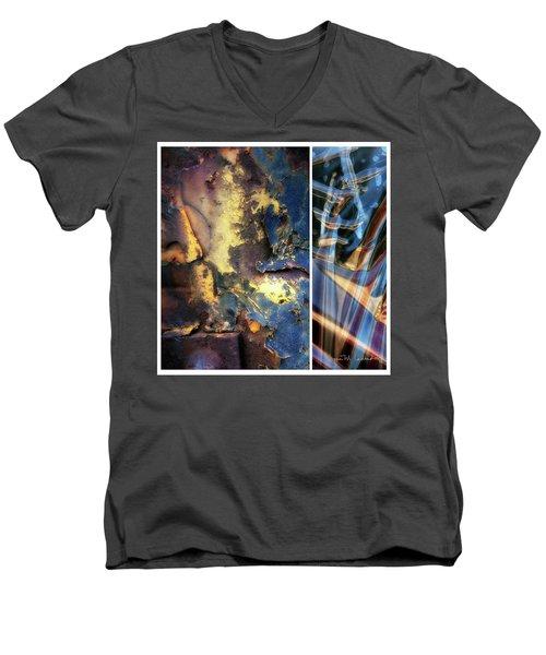Juxtae #71 Men's V-Neck T-Shirt by Joan Ladendorf